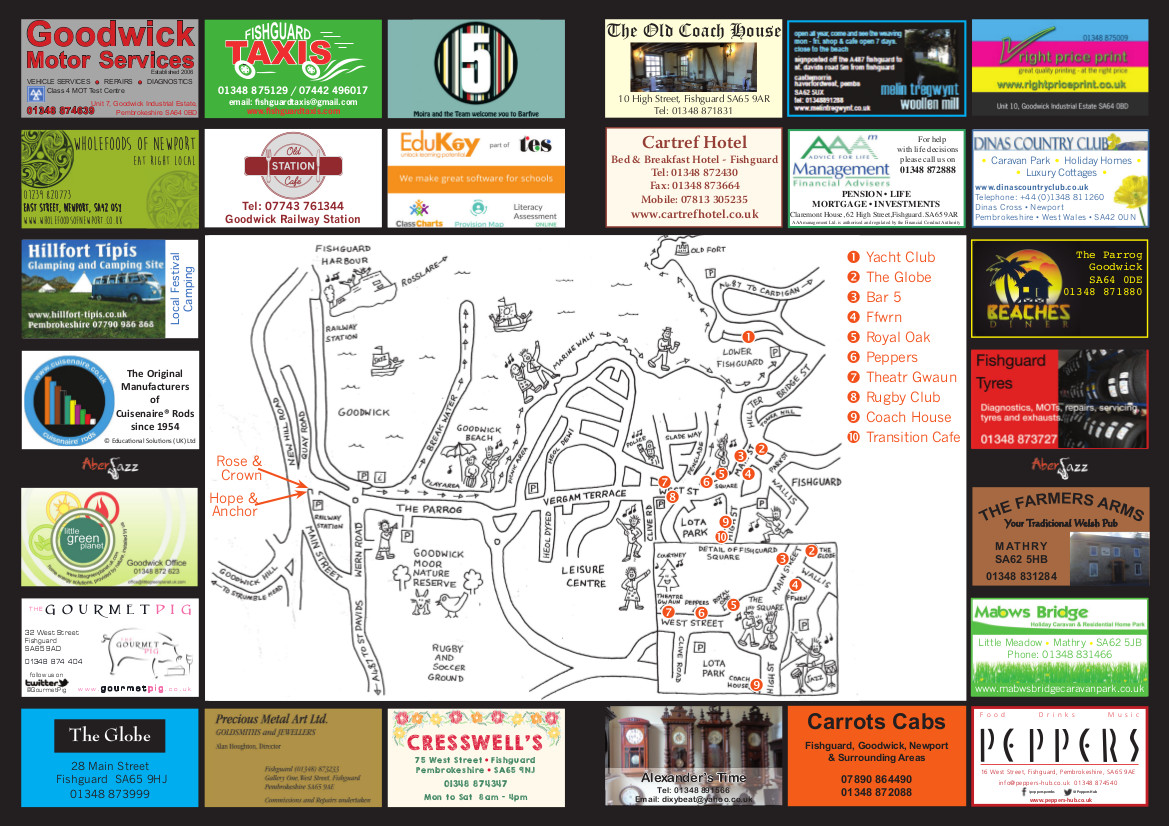 Aberjazz map 2016