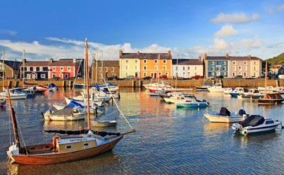Aberaeron Georgian Harbour by Janet Baxter