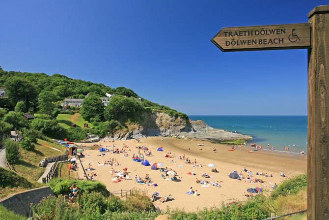 Aberporth Cardigan Bay West Wales - Image by Janet Baxter