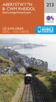 Llanrystud to Aberystwyth - OS Explorer Map Sheet 213