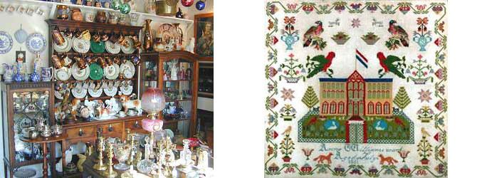 Antique Welsh Dresser and Sampler