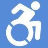 Beach wheelchair available in the summer