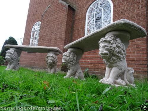 Lion garden benches