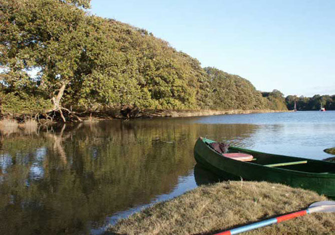 Canoe trips along River Teifi Cardigan Bay - Canoe below Cardigan on River Teifi by J. Davies