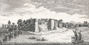Cardigan Castle and Priory - 1769