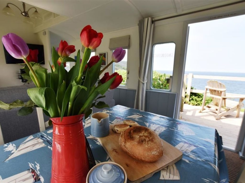 Clifftop dining with sea view Aberporth
