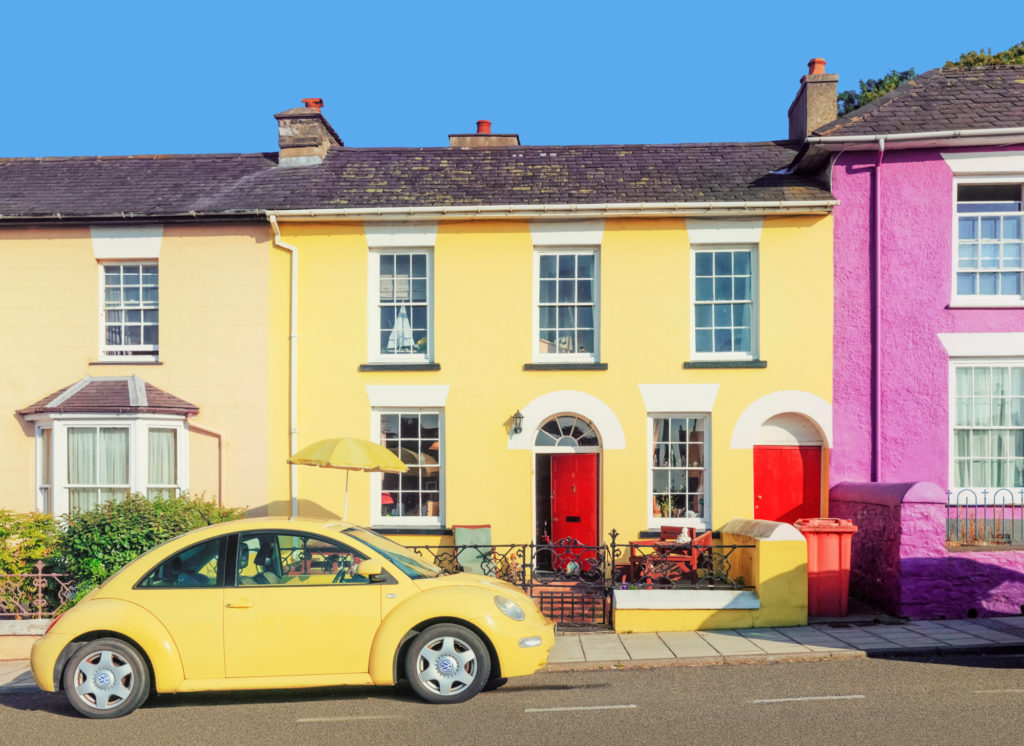 Colourful Houses in Aberaeron ©Janet Baxter