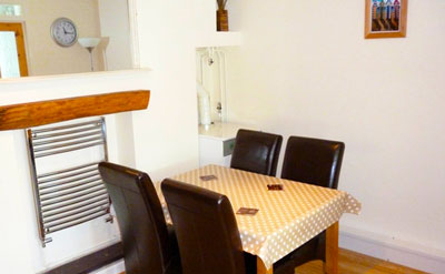 Aberaeron dining area self-catering Holiday Cottage