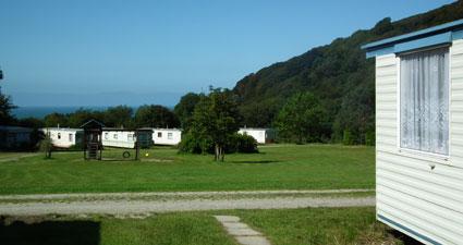 Llangrannog. Caravan Park West Wales Maes Glas Caravan Park Penbryn