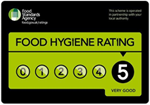currently rated 5 for Food Hygiene
