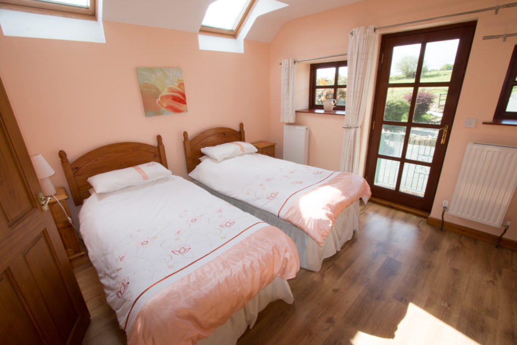 The Granary Holiday Cottage near Penbryn Beach - Twin Bedroom