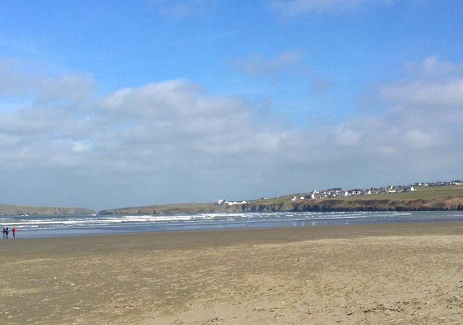 Gwbert as seen from Poppit Sands