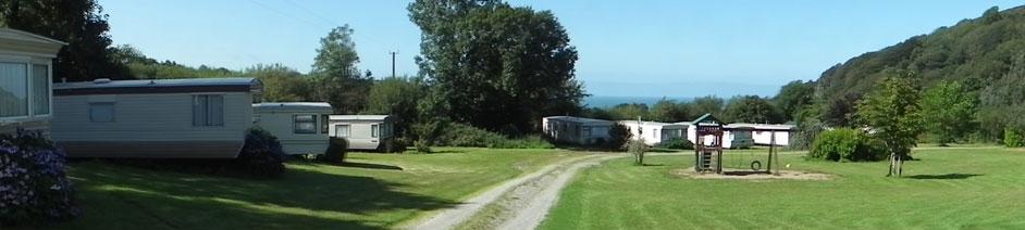 Llangrannog. Caravan Park West Wales Maes Glas Caravan Park Llangrannog