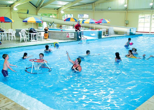 Indoor swimming pools. Self catering holiday accommodation West Wales Brynowen Caravan Park Borth Aberystwyth