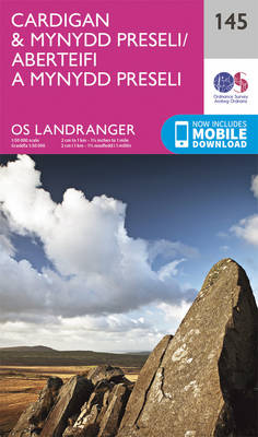 landranger 145 map for Cardigan Bay