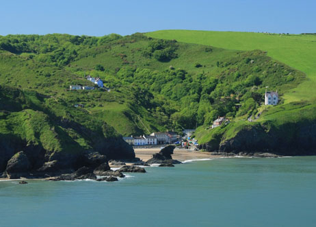 Llangrannog. Camping West Wales Brynawelon Touring and Camping Park Penbryn