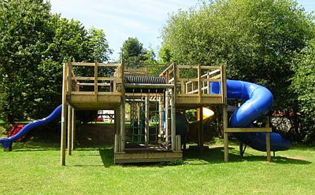 New play area at camp site Cardigan Bay