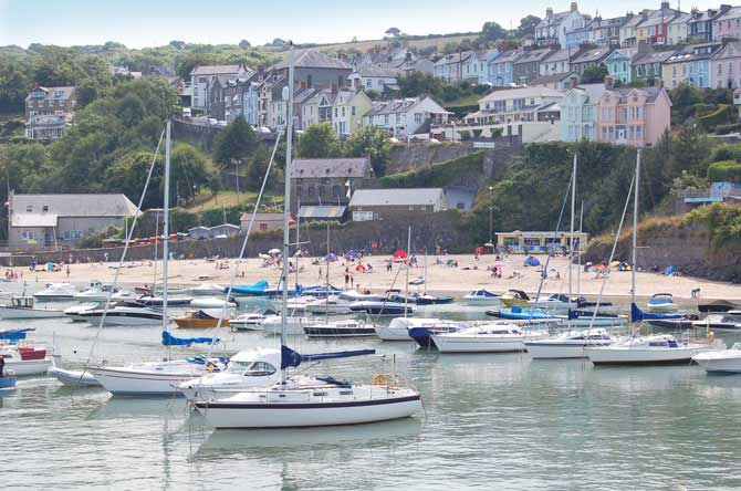 New Quay beaches and harbour