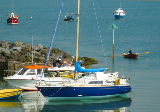 New Quay Harbour Cardigan Bay - Photo by F. Crompton