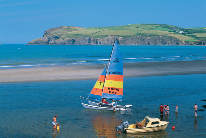 Newport Parrog Beach and Sand Dunes Cardigan Bay Pembrokeshire