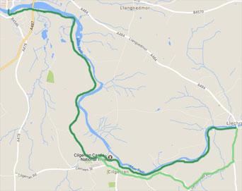 River Teifi Walk Llechryd to Cardigan