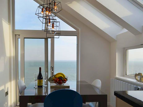 New Quay. Self catering holiday cottages West Wales Sailhouse Loft New Quay