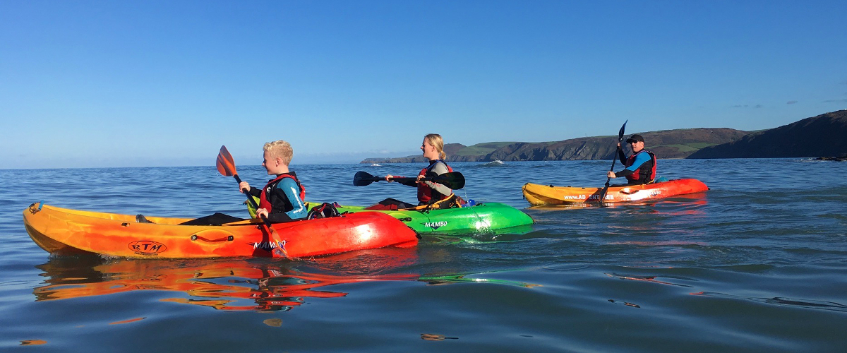 Sea kayaking Aberporth