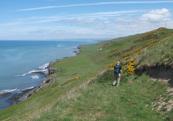 Wales Coast Path heading towards Aberystwyth