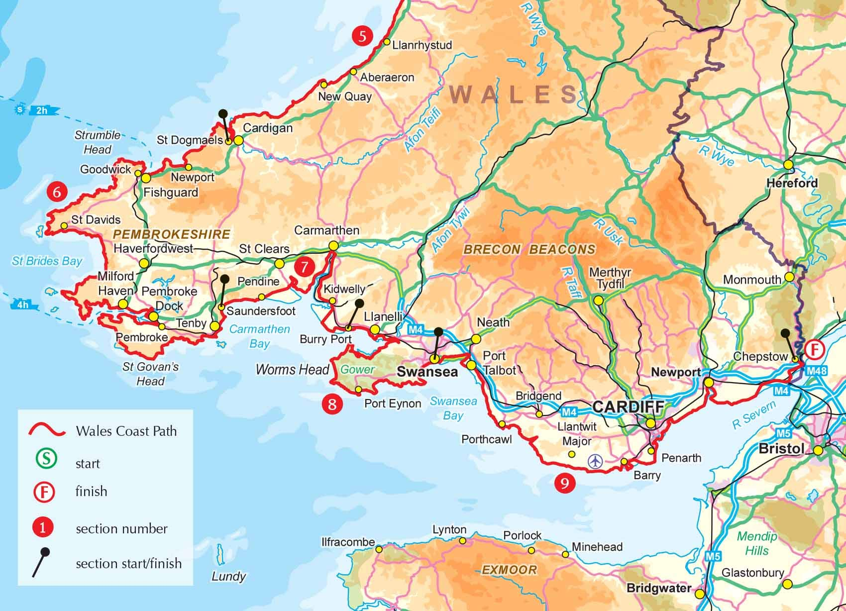 Walking the Wales Coast Path and Maps