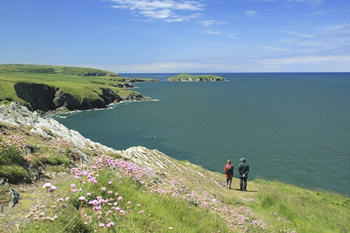 Walking Ceredigion Coastal Footpath Wales