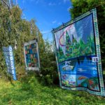 Quilts in Cae Hir Gardens