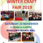 Rhydlewis Winter Craft Fair