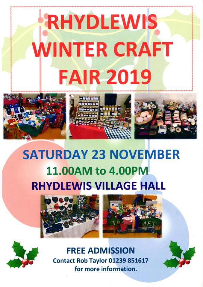 Rhydlewis Winter Craft Fair
